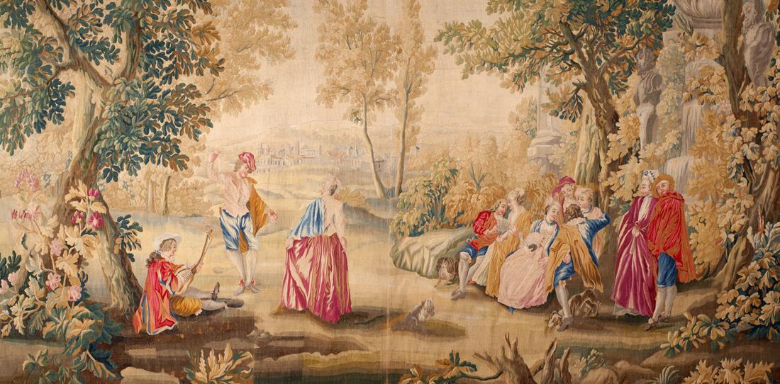 Xviiie si cle tapisseries fines pour l 39 international cit internationale de la tapisserie - Comment decoller de la tapisserie ...