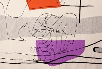 Les Mains (détail), d'après Le Corbusier, coll. Cité internationale de la tapisserie. © Fondation Le Corbusier / ADAGP, Paris, 2016