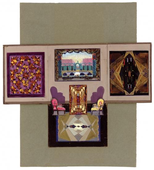Maquette préparatoire pour le stand (diorama) de la manufacture Coupé à l'Exposition internationale des arts décoratifs de 1925, à Paris - Maquette en trois dimensions, avant-projet du stand Coupé en 1925