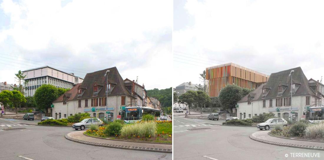 État projeté de la future Cité internationale de la tapisserie