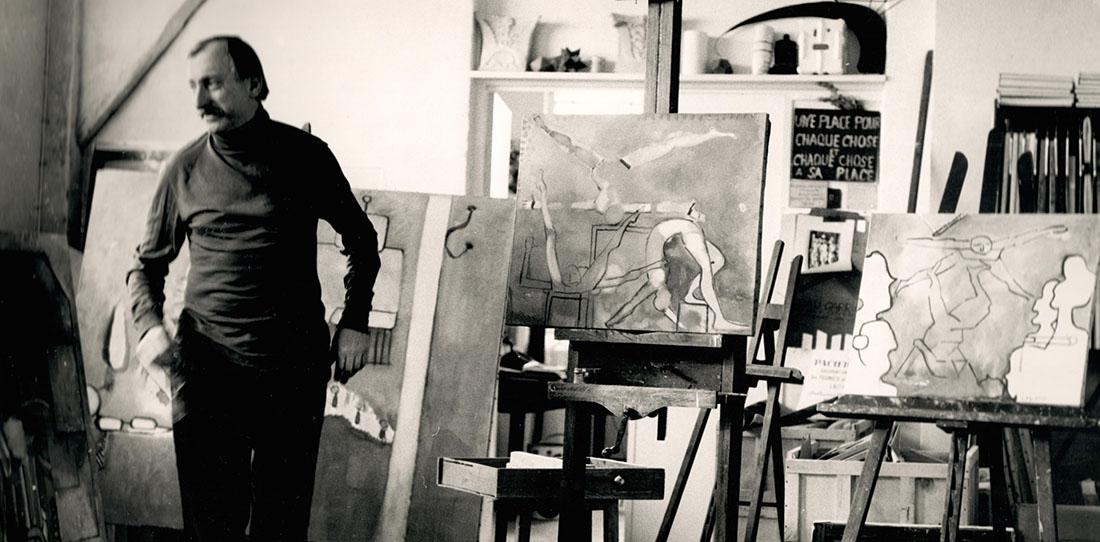 Jacques Lagrange dans son atelier