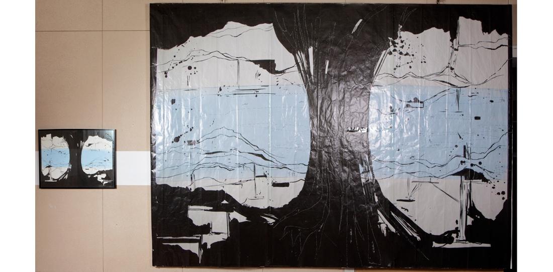 La Rivière au bord de l'eau : carton inversé gauche/droite versus maquette d'artiste