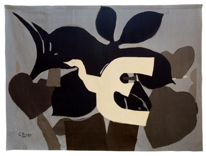 L'Oiseau, Georges Braque, woven by ENAD Aubusson's workshop (Denis Dumontet)