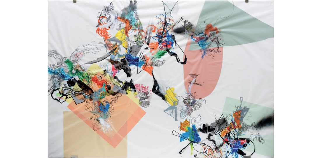 Blink # 0, 1/3, Benjamin Hochart, deuxième prix 2010, huile sur calque