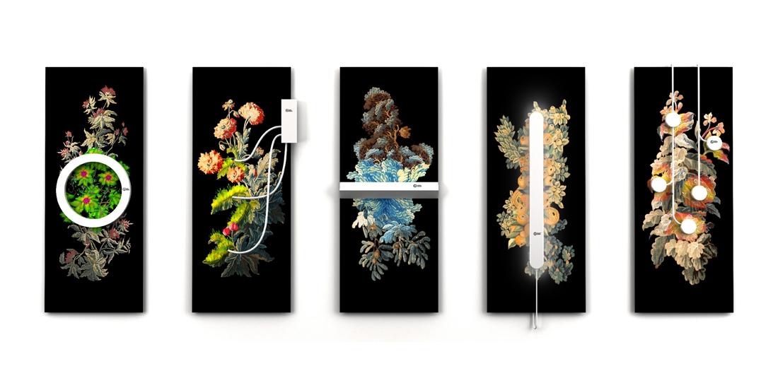 Nouvelles verdures d'Aubusson, par Quentin Vaulot et Goliath Dyèvre, Grand Prix 2013 de la Cité internationale de la tapisserie, maquette numérique