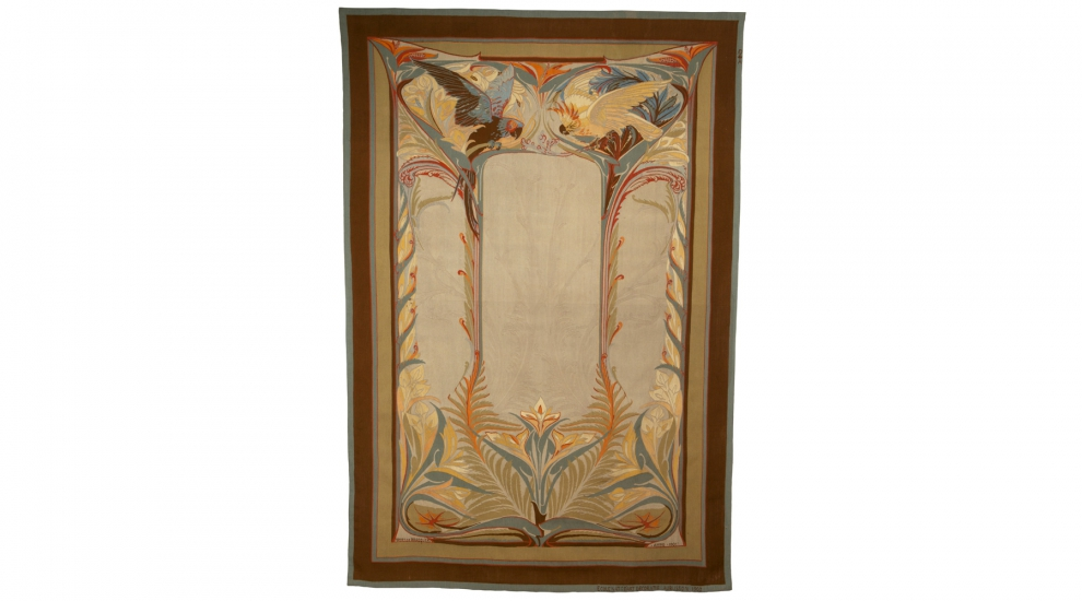 Les Perroquets, Henry de Waroquier, woven by ENAD Aubusson's workshop, 1901-1902