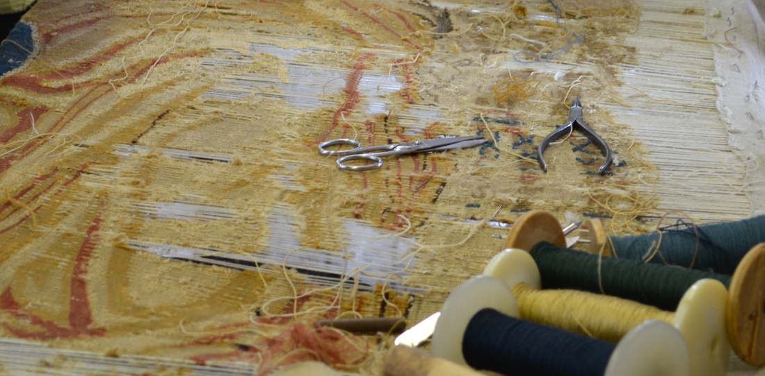 Restoring ancient tapestries