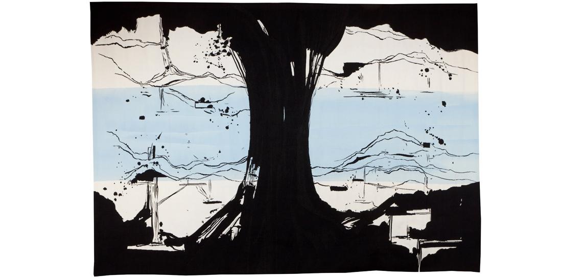 La Rivière au bord de l'eau, Olivier Nottellet, third prize 2010, woven by Bernard Battu workshop, 2011