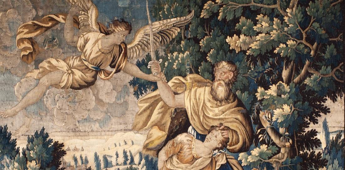 Le Sacrifice d'Abraham (détail), Ateliers d'Aubusson, XVIIe siècle