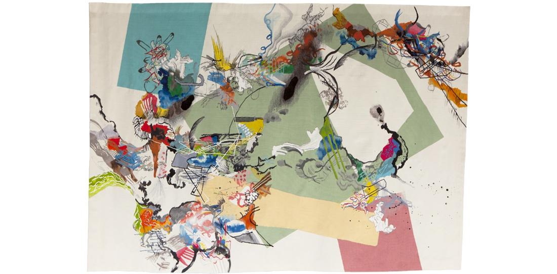 Blink # 0, Benjamin Hochart, 2e prix 2010, troisième pièce du triptyque, tissage Ateliers Pinton, 2012