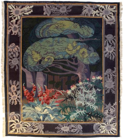 Verdure Solitude, d'après François-Henri Faureau, tissage atelier de l'ENAD Aubusson par l'élève R. Martinot, 1923