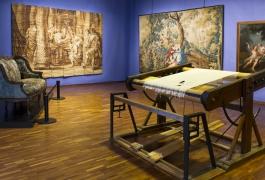 Vue d'ambiance du Musée départemental de la tapisserie, à l'occasion de l'Exposition d'Intérêt National