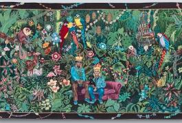 La famille dans la joyeuse verdure, Chiachio & Giannone, tissage Atelier A2, Aubusson