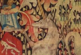 Millefleurs à la licorne (détail)