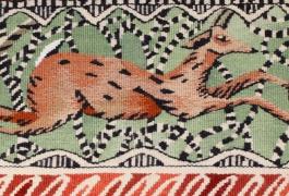 Bordure des bois (détail), d'après Diane de Bournazel, Troisième Prix 2013 de la Cité internationale de la tapisserie, tissage Atelier A2, 2014
