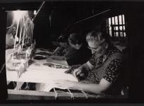 Atelier de basse lisse, anciens ateliers Pinton, rue Feydeau à Felletin. Don de Mme Baudouin.