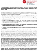 Summer School Michelangelo Foundation - press release ENGL