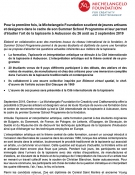 Summer School Fondation Michelangelo - dossier de presse FR